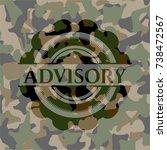 advisory camouflage emblem | Shutterstock .eps vector #738472567