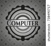 computer dark emblem