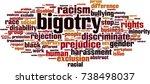 bigotry word cloud concept.... | Shutterstock .eps vector #738498037