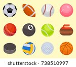 set of balls isolated... | Shutterstock .eps vector #738510997