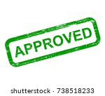 approved stamp  green isolated... | Shutterstock .eps vector #738518233