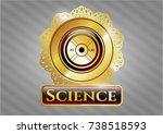golden emblem with... | Shutterstock .eps vector #738518593