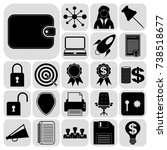 set of 22 business icons  high...