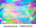 hippie psychedelic vivid neon...   Shutterstock . vector #738531253