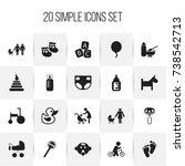 set of 20 editable baby icons....