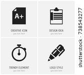 set of 4 editable school icons. ...