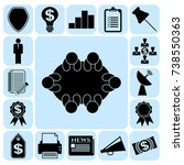 set of 17 business icons or...   Shutterstock .eps vector #738550363
