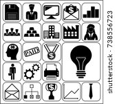 set of 22 business symbols of...   Shutterstock .eps vector #738556723
