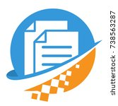 icon logo for digital business  ... | Shutterstock .eps vector #738563287
