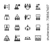 business conference icons | Shutterstock .eps vector #738567607