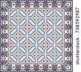 arabic patter style tiles for... | Shutterstock .eps vector #738592987