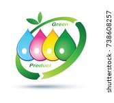 green product logo isolated ...   Shutterstock .eps vector #738608257