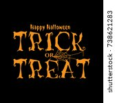 orange text happy halloween.... | Shutterstock .eps vector #738621283