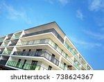 modern  luxury apartment...   Shutterstock . vector #738624367