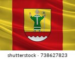 flag of cuxhaven is a district... | Shutterstock . vector #738627823