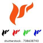 flora abstraction icon. vector...   Shutterstock .eps vector #738638743