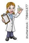 a cartoon scientist professor... | Shutterstock .eps vector #738641377