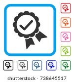 validity seal icon. flat gray... | Shutterstock .eps vector #738645517