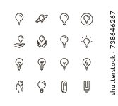 bulb icon set. collection of...   Shutterstock .eps vector #738646267
