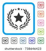 proud emblem icon. flat grey...