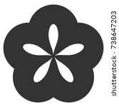 flower vector icon. style is...   Shutterstock .eps vector #738647203
