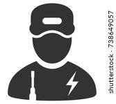 electrician boy vector icon....   Shutterstock .eps vector #738649057