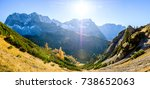 karwendel mountains in austria  ... | Shutterstock . vector #738652063