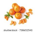 Unpeeled Ripe Tangerines ...