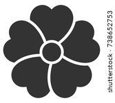 flower vector icon. style is...   Shutterstock .eps vector #738652753