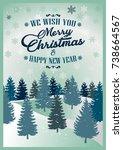 merry christmas. vector... | Shutterstock .eps vector #738664567