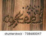 coffee concepts and ideas... | Shutterstock . vector #738680047