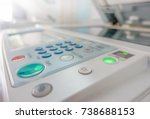 close up panel button of...   Shutterstock . vector #738688153