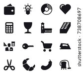 16 vector icon set   wallet ...