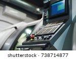 machine control panel cnc.... | Shutterstock . vector #738714877