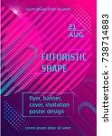 futuristic vibrant vector... | Shutterstock .eps vector #738714883