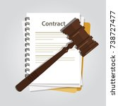 contract law concept of legal... | Shutterstock .eps vector #738727477