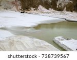 sand extraction  sand quarry ... | Shutterstock . vector #738739567