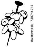 voodoo dolls pinned stencil... | Shutterstock .eps vector #738746743