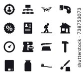 16 vector icon set   target... | Shutterstock .eps vector #738753073