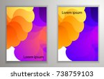 abstract background with... | Shutterstock .eps vector #738759103