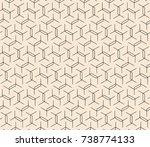 subtle line seamless geometric... | Shutterstock .eps vector #738774133