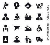 16 vector icon set   courier ... | Shutterstock .eps vector #738787657