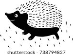 hedgehog | Shutterstock .eps vector #738794827