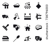 16 vector icon set   factory... | Shutterstock .eps vector #738796003