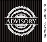 advisory silver emblem or badge | Shutterstock .eps vector #738823873