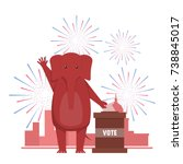 the usa elections result... | Shutterstock . vector #738845017