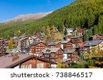 view of village  zermatt ...   Shutterstock . vector #738846517