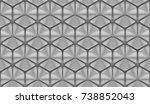 3d wall tiles white ceramic... | Shutterstock . vector #738852043