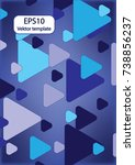 expanding triangles | Shutterstock .eps vector #738856237