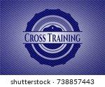 cross training badge with denim ... | Shutterstock .eps vector #738857443